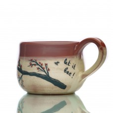 Handmade mug Let it Bee